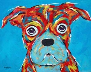 Picture of a dog art
