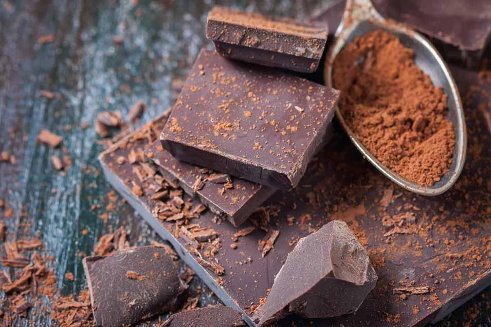 Picture of dark chocolate