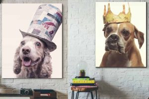 Picture of dog paintings