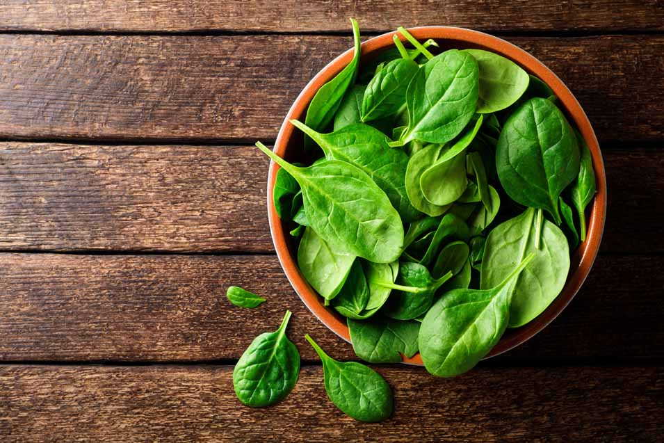 Picture of a bowl of spinach