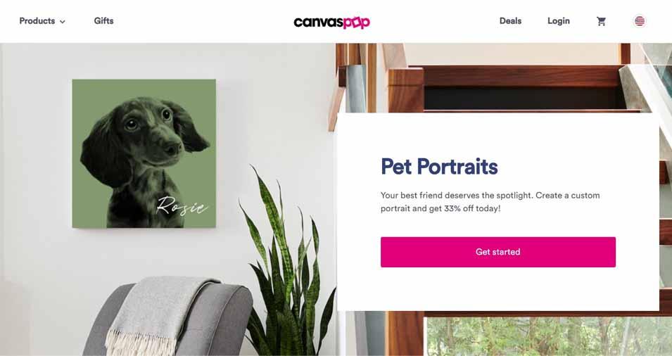 pet portraits screenshot