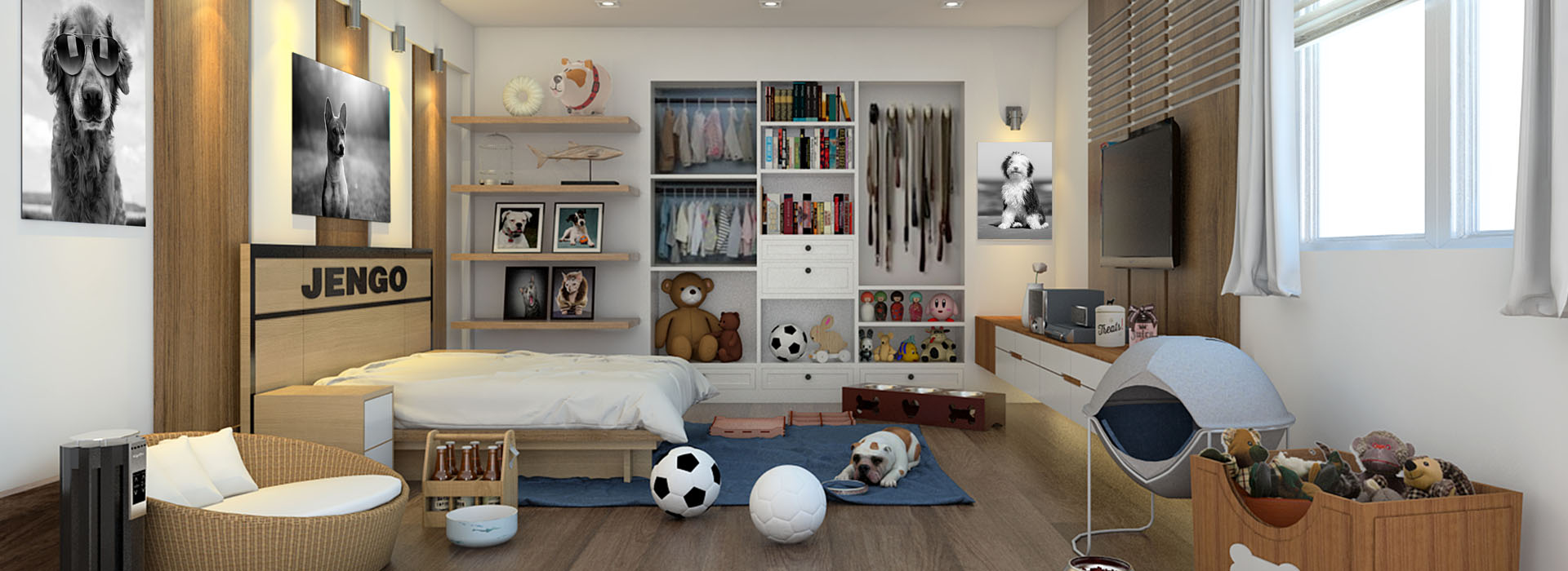 Dogs Room of Pet Friendly House