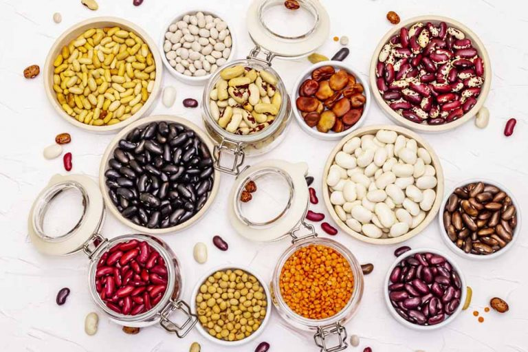 Picture of different types of beans