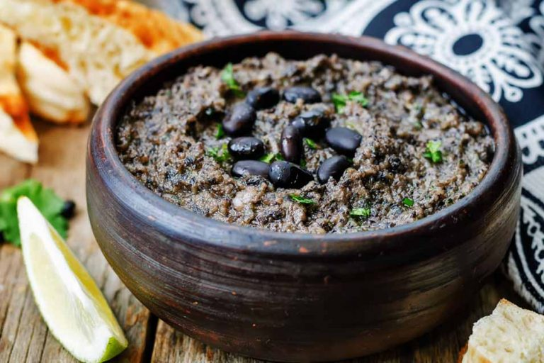 Picture of food made with black beans